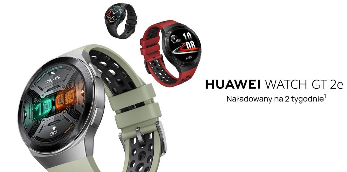 Huawei Watch GT 2E  w trzech kolorach