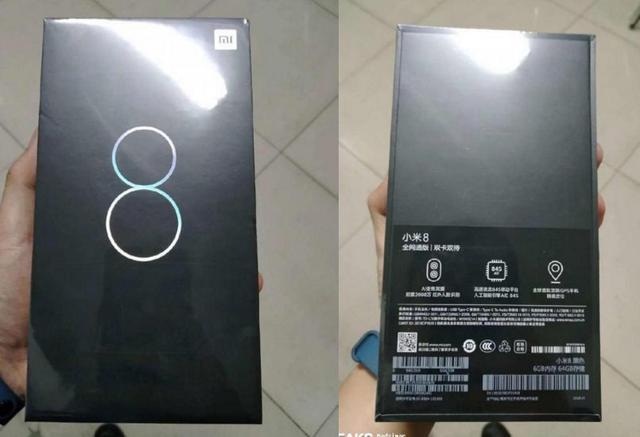 Opakowanie Xiaomi Mi 8