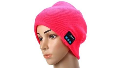 Gearbest 2.4GHz MIC Wireless Bluetooth Knitted Winter Hat Cap Media Music Receiver Built