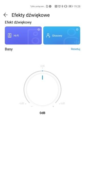 Efekty dźwiękowe w aplikacji AI Life nie pozwalają na zmianę wielu parametrów