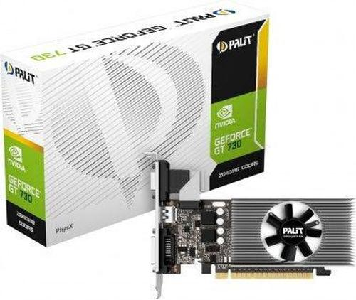 Palit GeForce GT 730 2GB DDR5 (64 Bit) DVI-D, HDMI, D-Sub, BOX (NE5T7300HD46F)