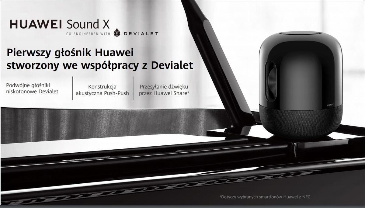 Grafika promująca nowy głośnik Huawei