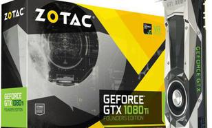 Zotac GeForce GTX 1080 Ti Founders Edition 11GB GDDR5X (352 bit), HDMI, 3x DP, BOX (ZT-P10810A-10P)