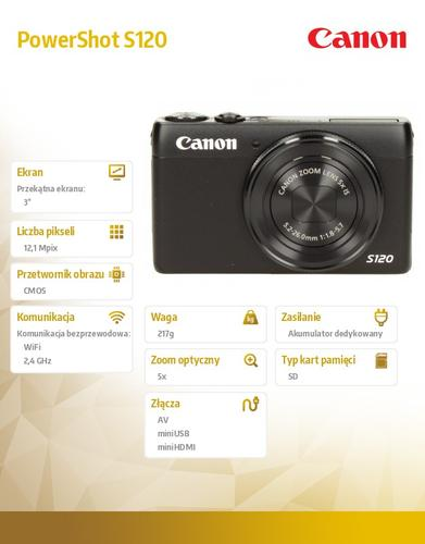 Canon PowerShot S120 BLK 8407B011