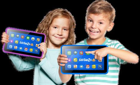 Edutab 2+ : Multimedialno- Edukacyjny Tablet Overmax Dla Dzieci od 7 Lat!