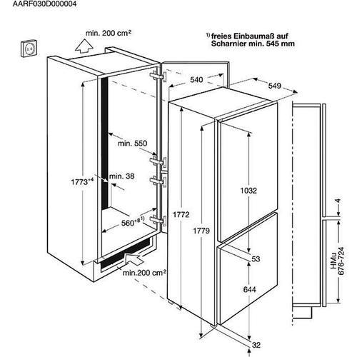 Electrolux Chłodziarko-zamrażarka ENN2853COW