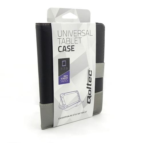 Qoltec Uniwersalne etui do Tabletu 7 cali, czarny + srebrny