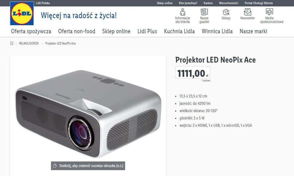 W Lidlu do kupienia projektor w przystępnej cenie - Kinowy model Philipsa