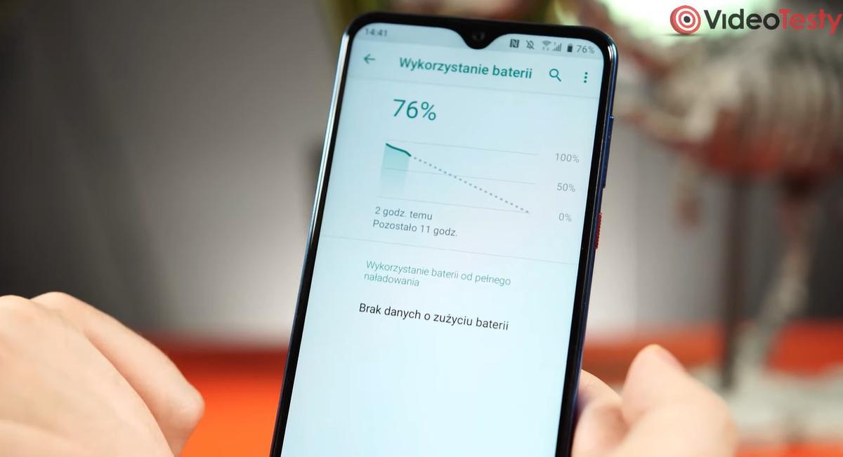 HTC Desire 19+ nie informuje o zużyciu baterii