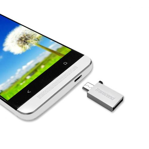 Transcend JETFLASH 380 8GB USB2/micro-USB SILVER Android/Window s/MAC/L