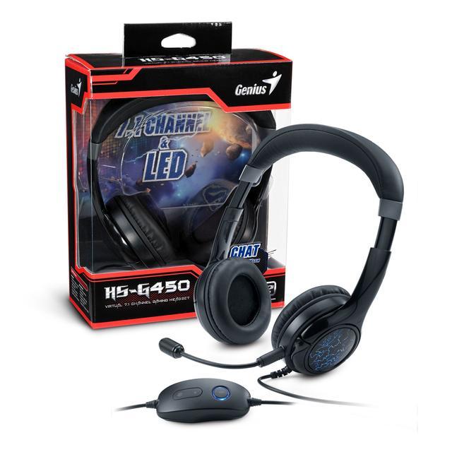 Genius HS-G450 - Słuchawki z Niebieskim Podświetleniem