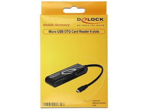 DELOCK Czytnik kart ALL-IN-ONE Micro USB (OTG)