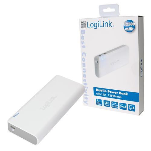 LogiLink Przenośna ładowarka Power Bank 12500mAh