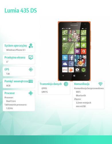 Microsoft Lumia 435 DS Bright Orange