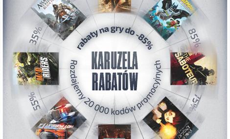 Karuzela rabatów - 20 tysięcy kodów na gry