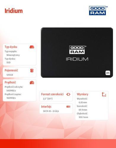 GoodRam Iridium 120GB SATA3 2,5 560/160MB/s