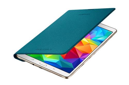 """Samsung Etui w formie """"book cover"""" tylko na przód / Simple cover do GALAXY Tab S 8.4 AMOLED / Klimt (T700/T705) - niebieskie"""