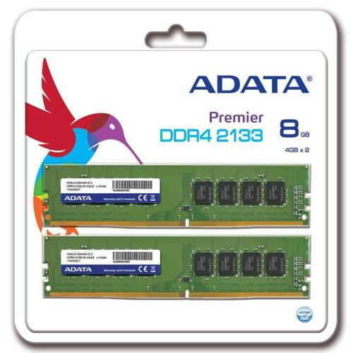 A-Data Premier DDR4 2133 DIMM 8GB Kit (2x4GB) CL15