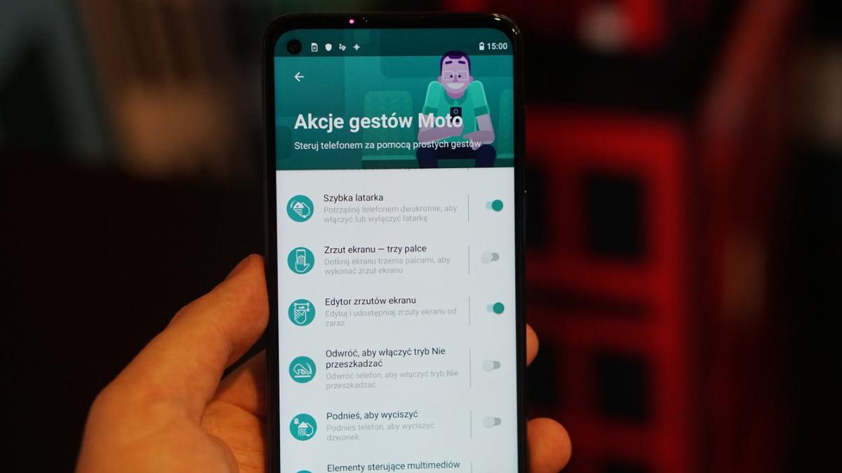 Moto G8 Power oferuje znane gesty Moto