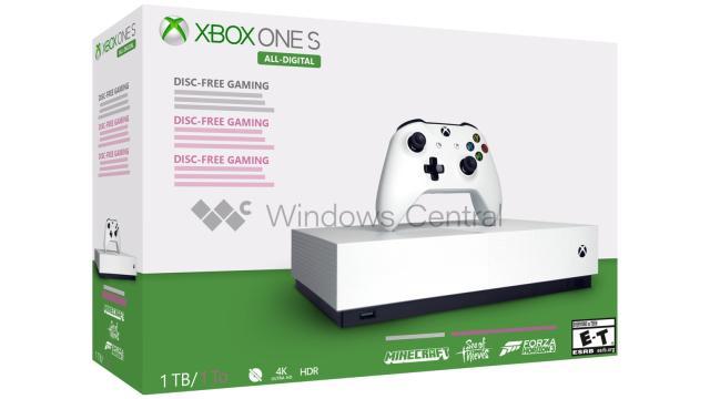 Xbox One S w wersji bez napędu