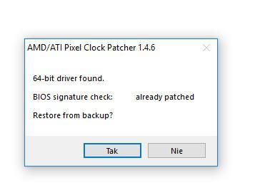 Radeon RX 460 - BIOS patcher