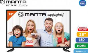 Manta 28'' TV LED280Q4 - KABEL HDMI GRATIS!