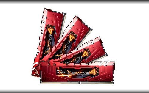 G.SKILL DDR4 32GB (4x8GB) Ripjaws4 2666MHz CL15-15-15 XMP2 Red