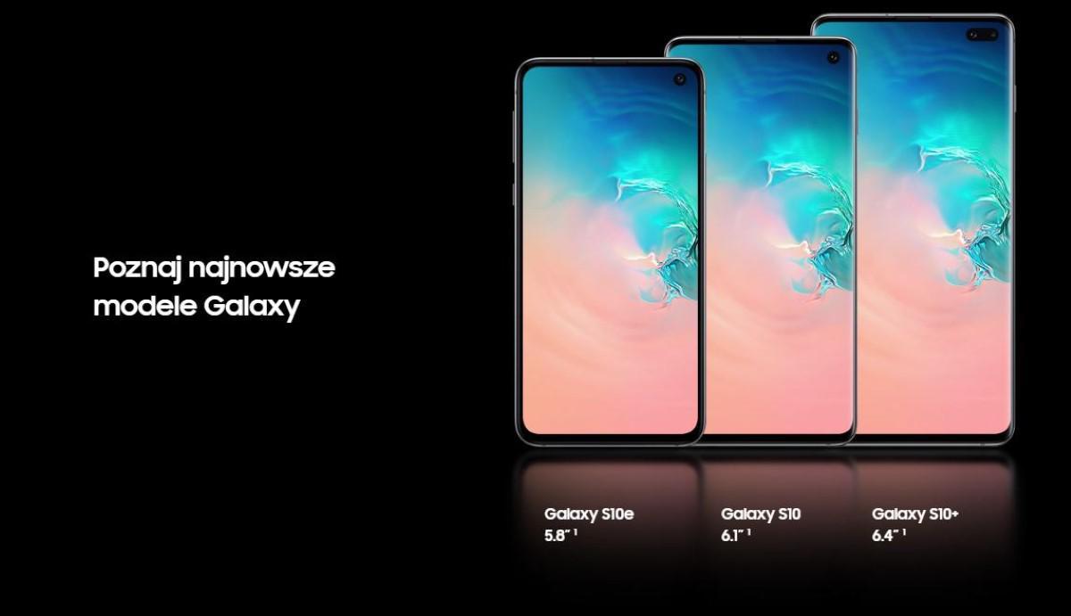 Najnowsze modele Samsung Galaxy S10