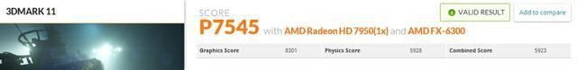Asus Radeon HD7950 DirectCU II Top 3dmark 11