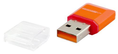 ESPERANZA CZYTNIK KART PAMIĘCI MicroSD / (MicroSD PenDrive) EA134O USB 2.0 POMARAŃCZOWY