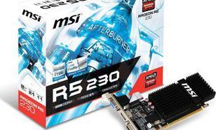 MSI Radeon R5 230 2GB DDR3 (64 bit) D-SUB, DVI, HDMI, Low Profile (R5 230 2GD3H LP)
