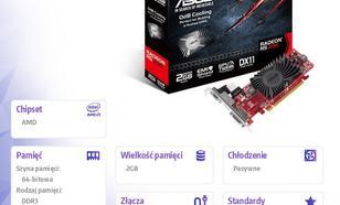 Asus Radeon R5 230 2GB DDR3 (64 bit) HDMI, DVI, D-Sub (R5230-SL-2GD3-L)