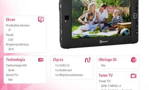 Cabletech 9'' TELEWIZOR DVBT URZ0196