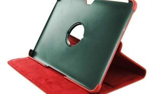 4World Etui z nożką dla Galaxy Tab 10.1, obrotowe, czerwone