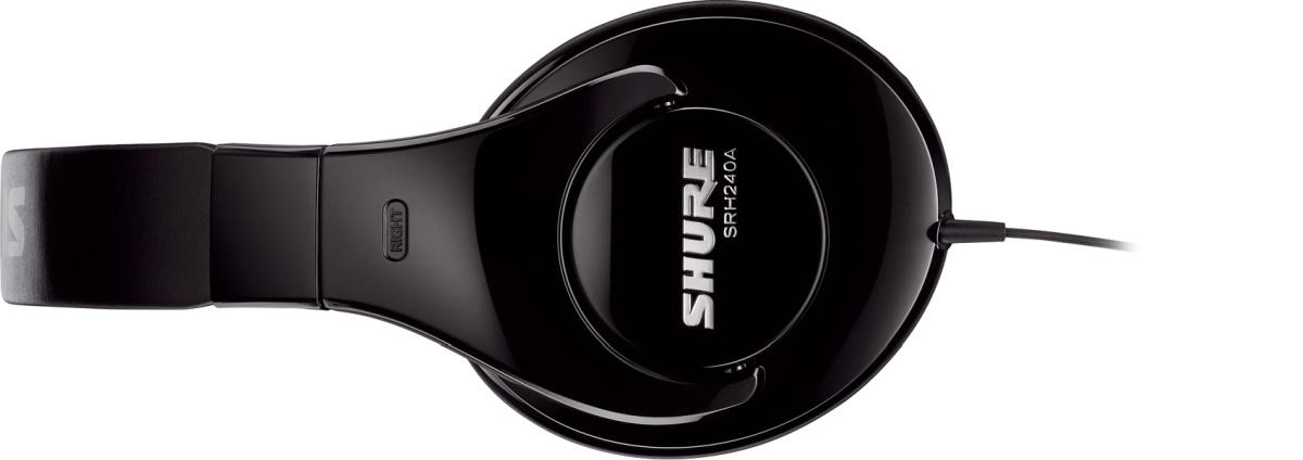 Słuchawki Shure SRH240A nie wyróżniają się wyglądem