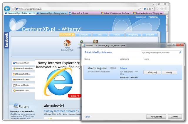 Powroty mają różne kształty i rozmiary – Internet Explorer 9