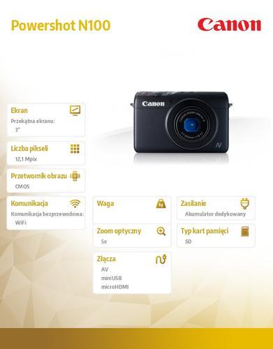 Canon Powershot N100 HS BLK WIFI 9168B009AA