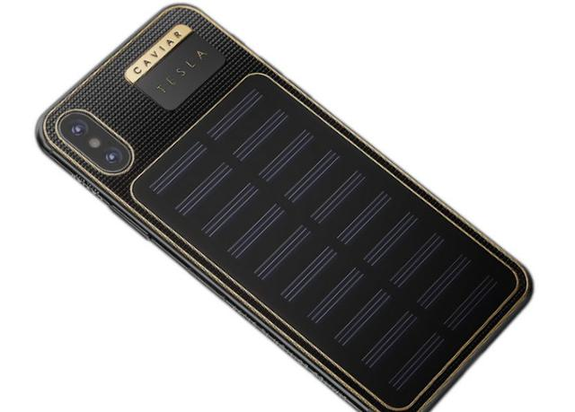 Caviar iPhone X Tesla panele słoneczne
