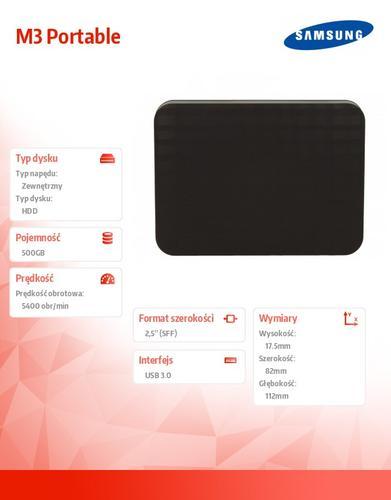 Samsung STSHX-M500TCB 500 2,5''USB3.0 M3 Portable