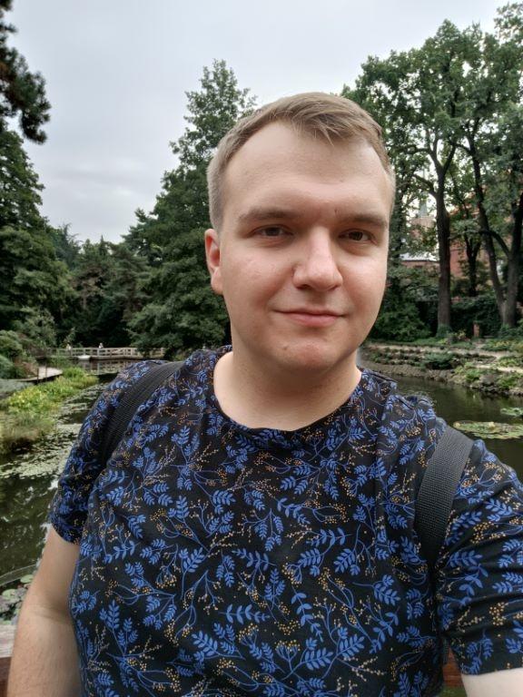 Selfie z włączonym trybem HDR
