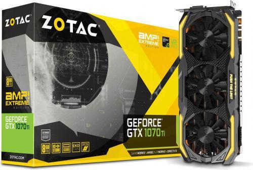 Zotac GeForce GTX 1070 Ti AMP Extreme 8GB GDDR5 (256 bit) DVI-D, HDMI, 3xDP, BOX (ZT-P10710B-10P)