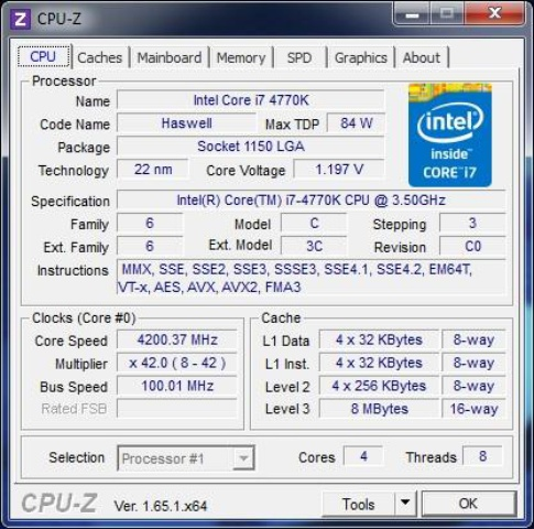 MSI Z87-GD65 cpu