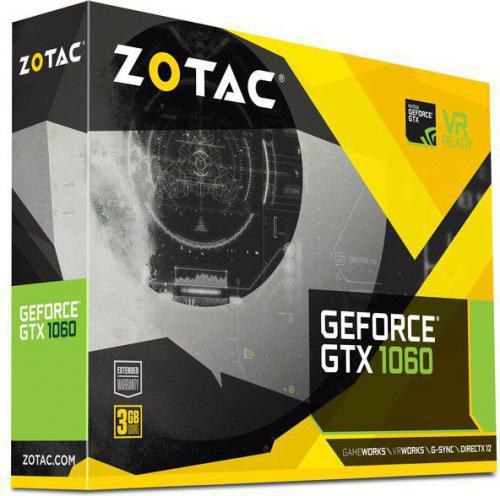 Zotac GeForce GTX 1060 3GB GDDR5 (192 Bit) DVI, HDMI, 3xDP, BOX (ZT-P10610A-10L)