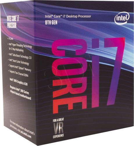 Intel Core i7-8700K I7-8700K BX80684I78700K 961566 ( 3700 MHz (min) ; 4700 MHz (max) ; LGA 1151 ; BOX )