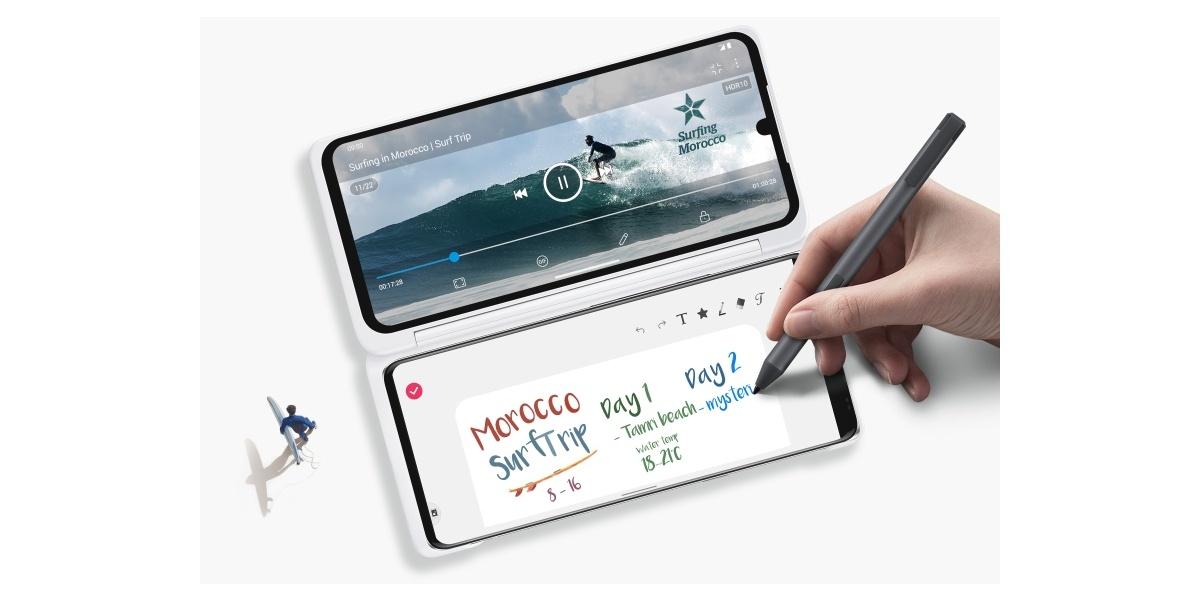 LG Velvet obsługuje etui Dual Screen