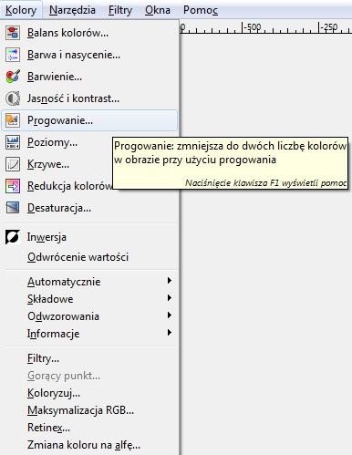 Jak Włączyć Progowanie GIMP