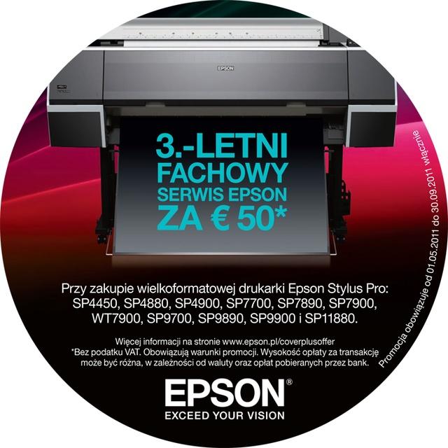 CoverPlus - Epson wydłuża gwarancję na drukarki Stylus PRO