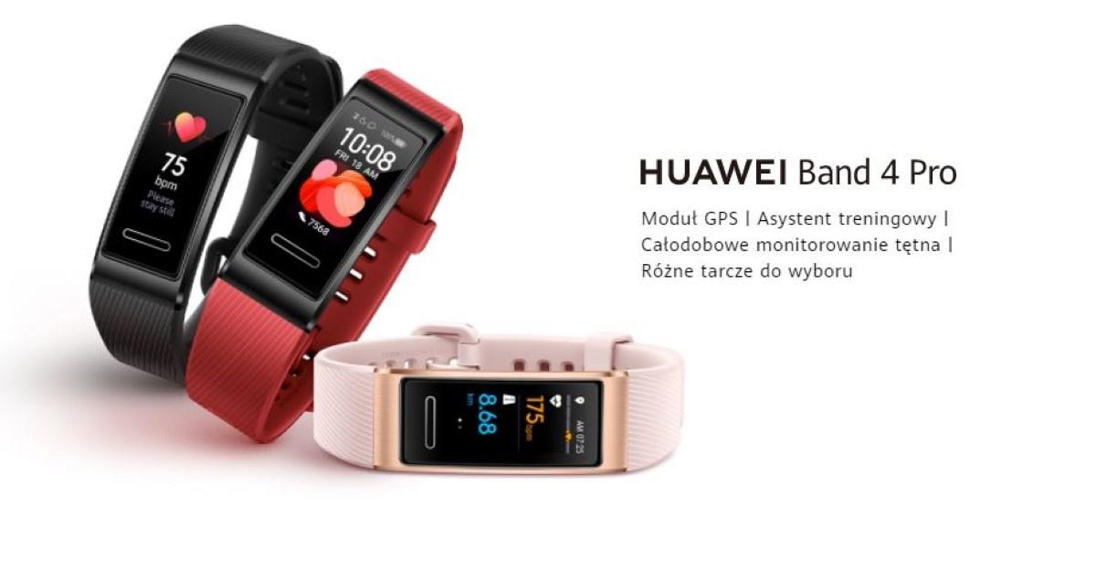 Huawei Band 4 Pro zalety podane przez producenta