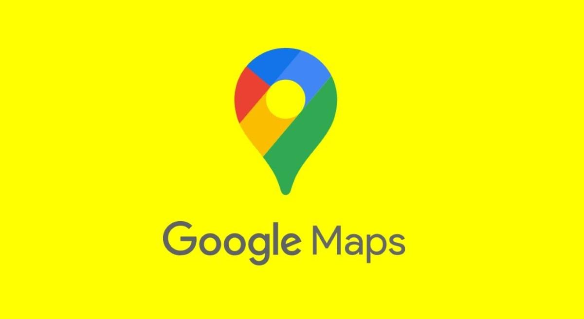 Logo Google Maps na żółtym tle