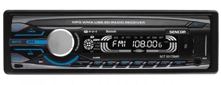 tani radioodtwarzacz samochodowy Sencor SCT5017BMR
